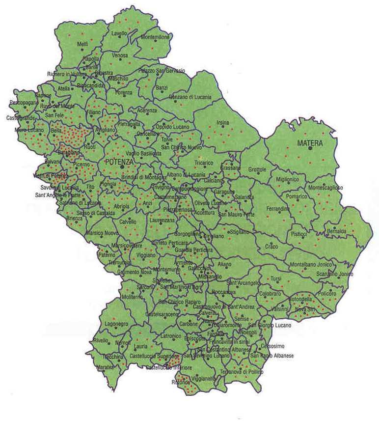 Cartina Basilicata.Le Cartine Della Basilicata O Lucania